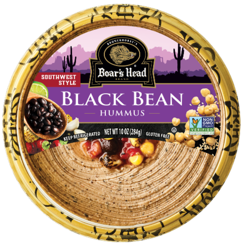 Boar's Head Southwest Style Black Bean Hummus Perspective: front