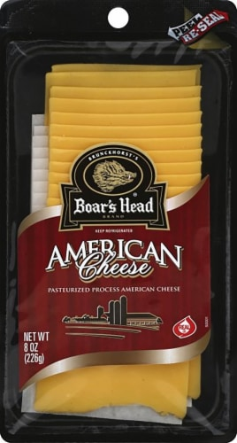 Boar's Head Pre-Sliced Yellow American Cheese Perspective: front