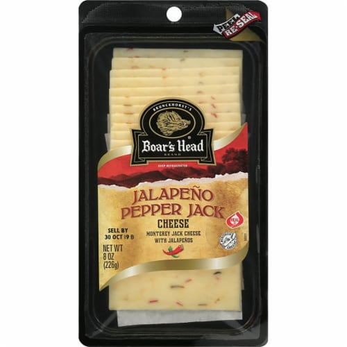 Boar's Head Pre-Sliced Jalapeño Pepper Jack Cheese Perspective: front
