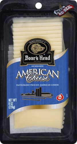 Boar's Head Pre-Sliced White American Cheese Perspective: front