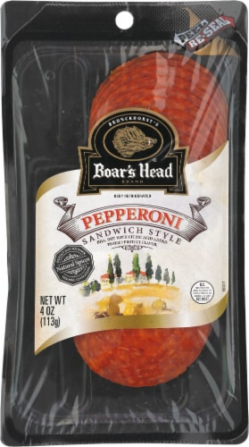 Boar's Head Pre-Sliced Sandwich Style Pepperoni Perspective: front