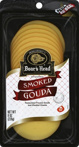 Boar's Head Pre-Sliced Smoked Gouda Cheese Perspective: front
