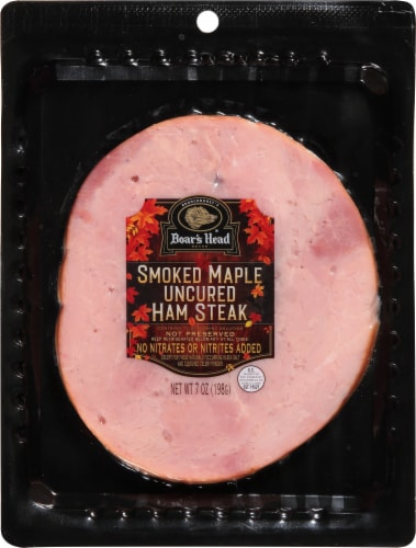 Boar's Head Smoked Maple Uncured Ham Steak Perspective: front