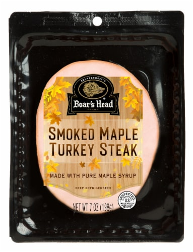 Boar's Head Smoked Maple Turkey Steak Perspective: front