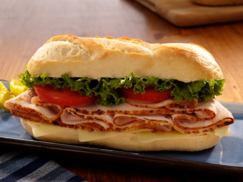 Boar's Head Grab N Go Authentic Italian Hoagie on White Roll Perspective: front
