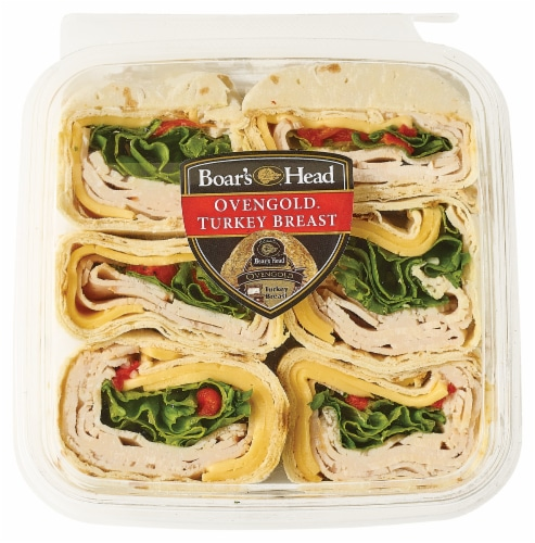 Boar's Head Head Grab n Go Handcrafted Ovengold Turkey Breast Pinwheels Perspective: front