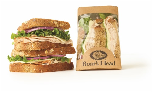 Boar's Head Grab n Go Handcrafted Ovengold Provolone Sandwich Perspective: front
