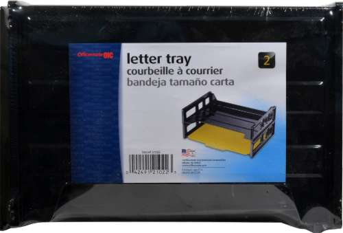 Officemate Letter Tray 21022 - Black Perspective: front