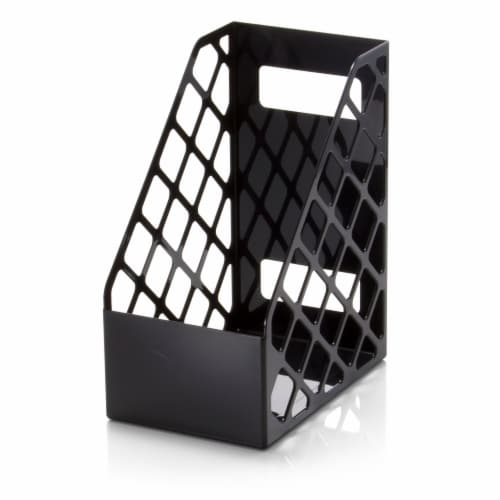 Officemate Large Magazine File - Black Perspective: front