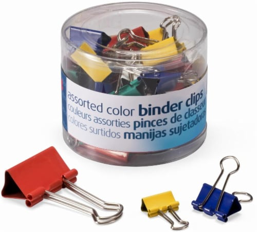Officemate OIC Assorted  Binder Clips - 30 Pack Perspective: front