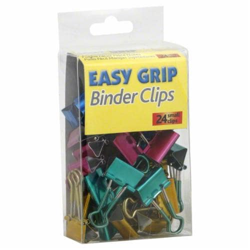 Officemate Easy Grip Binder Clips - Assorted - 12 Pack Perspective: front