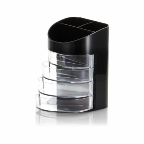Officemate Supply Organizer - Black/Clear Perspective: front
