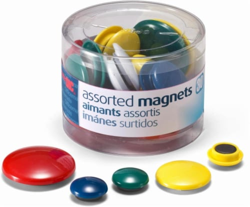 Officemate Assorted Magnets - 30 Pack Perspective: front