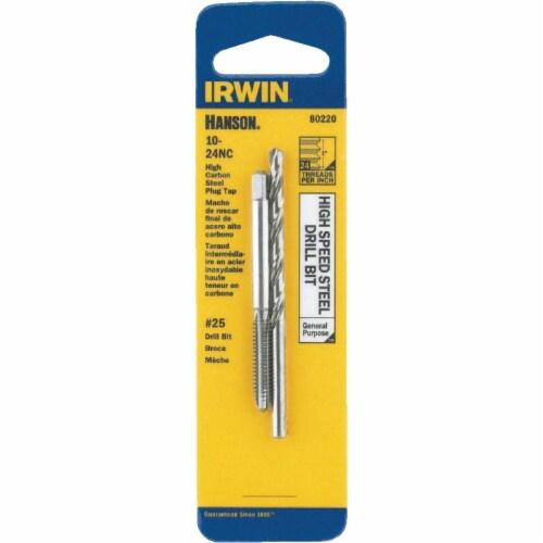 Irwin Hanson 10 - 24 NC + No. 25 Plug Tap & Drill Bit 80220 Perspective: front