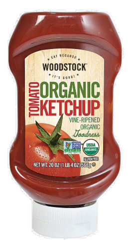 Woodstock Farms Organic Tomato Ketchup Perspective: front