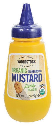 Woodstock Organic Stoneground Mustard Perspective: front