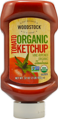 Woodstock Organic Tomato Ketchup Perspective: front