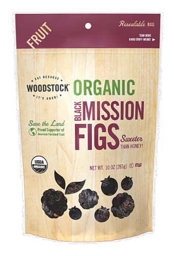 Woodstock Farms Organic Black Mission Figs Perspective: front