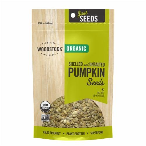 Woodstock Just Seeds Organic Pumpkin Seeds Perspective: front