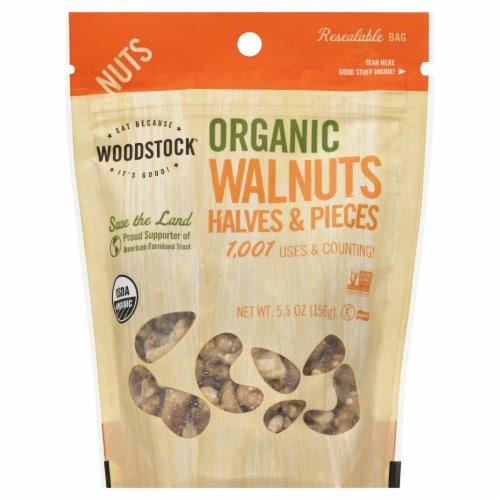 Woodstock Organic Walnuts Halves And Pieces Perspective: front