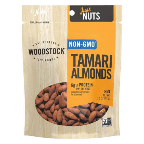 Woodstock Farms Tamari Almonds Perspective: front