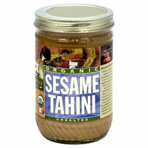 Woodstock Farms Organic Unsalted Sesame Tahini Perspective: front
