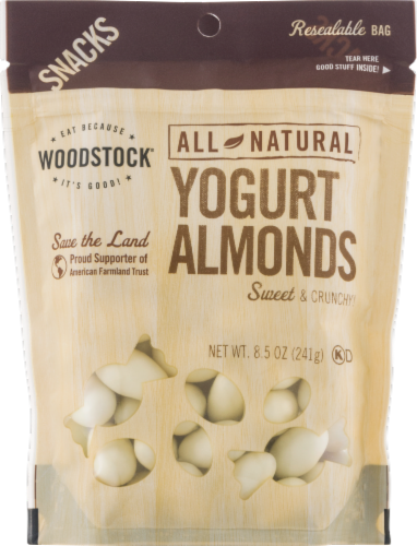Woodstock All Natural Sweet & Crunchy Yogurt Almonds Perspective: front