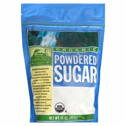 Woodstock Farms Organic Powdered Sugar Perspective: front
