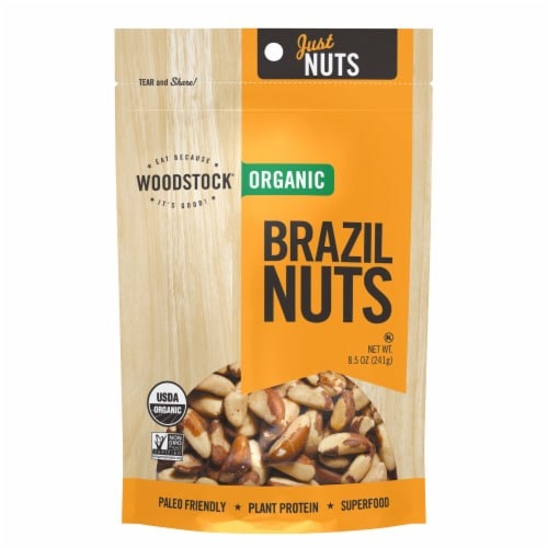 Woodstock Organic Brazil Nuts Perspective: front