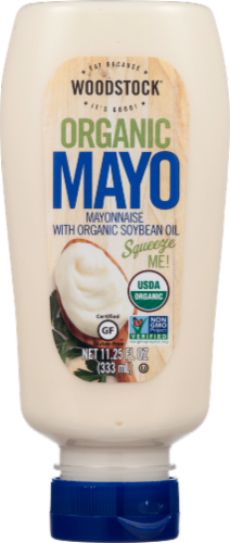 Woodstock Organic Mayo with Soybean Oil Perspective: front