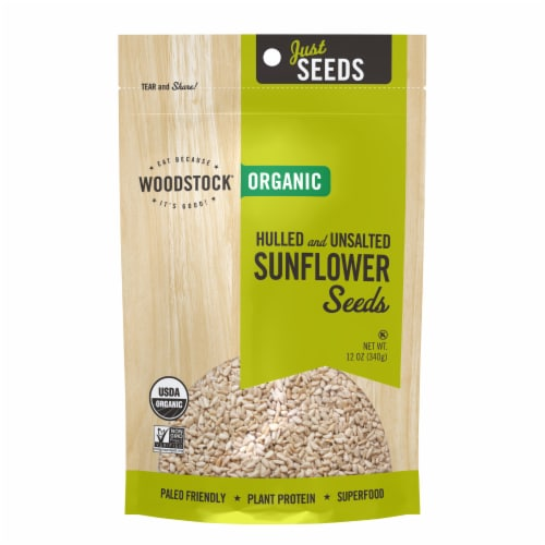 Woodstock Just Seeds Organic Sunflower Seeds Perspective: front
