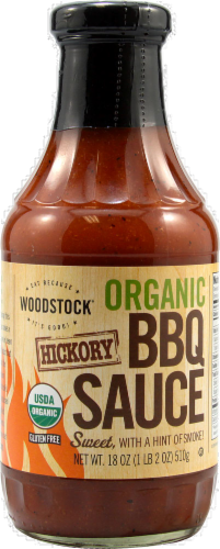 Woodstock Farms Hickory BBQ Sauce Perspective: front
