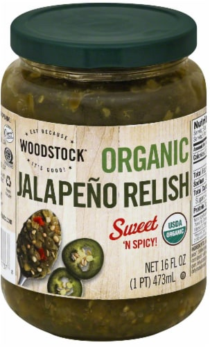 Woodstock Organic Sweet 'N Spicy Jalapeño Relish Perspective: front