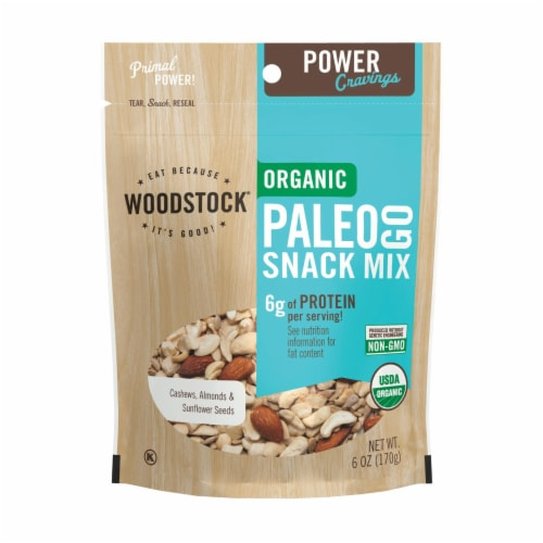 Woodstock Power Cravings Organic Paleo Go Snack Mix Perspective: front