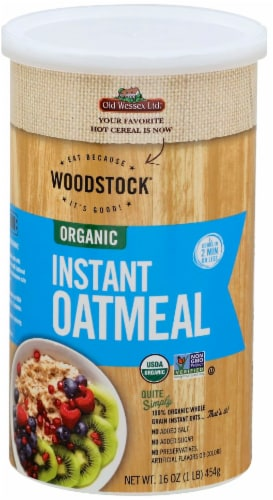 Woodstock Organic Instant Oatmeal Perspective: front
