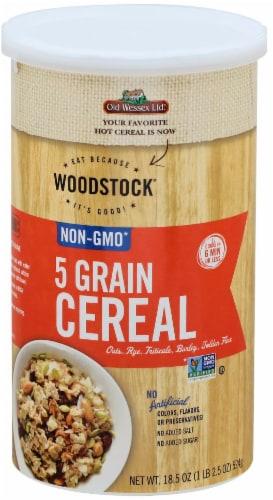 Woodstock Non-GMO 5 Grain Cereal Perspective: front
