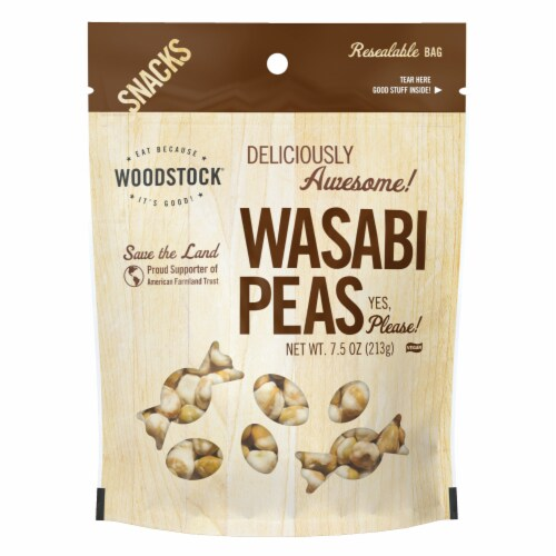 Woodstock Farms Natural Wasabi Peas Perspective: front