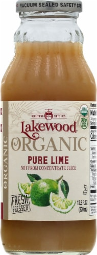 Lakewood Organic Fresh Pressed Lime Pure Juice Perspective: front