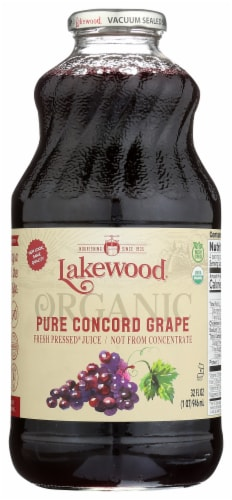Lakewood Organic Pure Concord Grape Juice Perspective: front