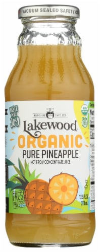 Lakewood Organic Pure Pineapple Fruit Juice Perspective: front