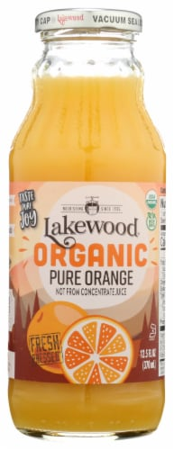 Lakewood Organic Pure Orange Fruit Juice Perspective: front