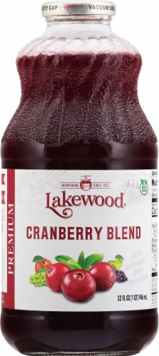 Lakewood Organic Cranberry Juice Perspective: front
