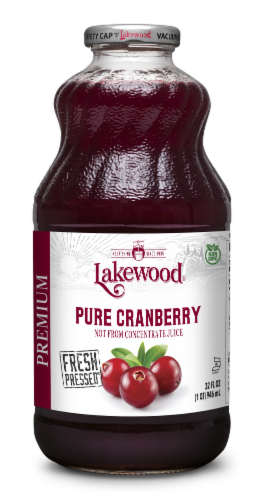 Lakewood Pure Cranberry Juice Perspective: front