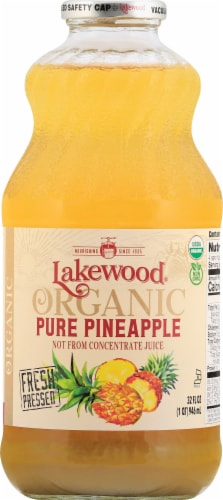 Lakewood Organic Pure Pineapple Juice Perspective: front