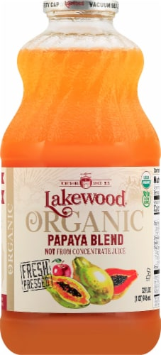 Lakewood Organic Papaya Juice Perspective: front
