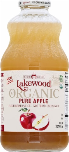 Lakewood Organic Pure Apple Juice Perspective: front