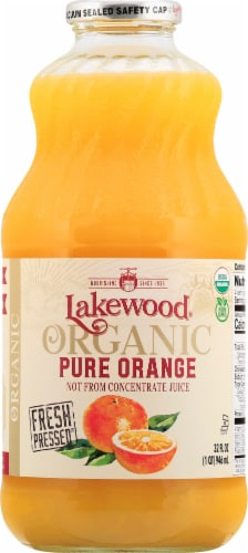 Lakewood Organic Fresh Pressed Pure Orange Juice Perspective: front