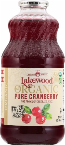 Lakewood Organic Pure Cranberry Juice Perspective: front