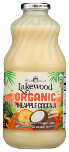 Lakewood  Organic Cocktail Juice Nectar   Pineapple Coconut Blend Perspective: front