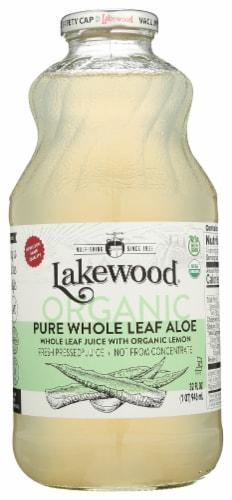 Lakewood Organic Pure Whole Leaf Aloe Juice Perspective: front